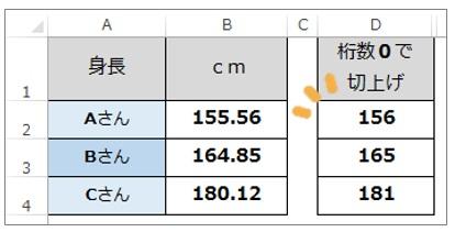Excel関数ROUNDUPで切上げ処理をする方法