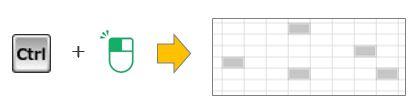 Excel豆知識。簡単に複数選択することができる