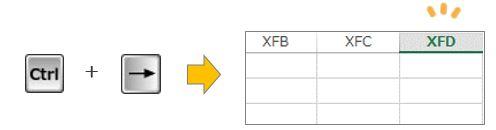 Excel豆知識。一番右端のセルは?
