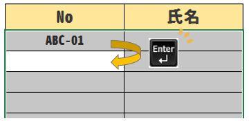 【Excel効率UP】Enterキーだけで次列の1行目(先頭)へ移動する方法
