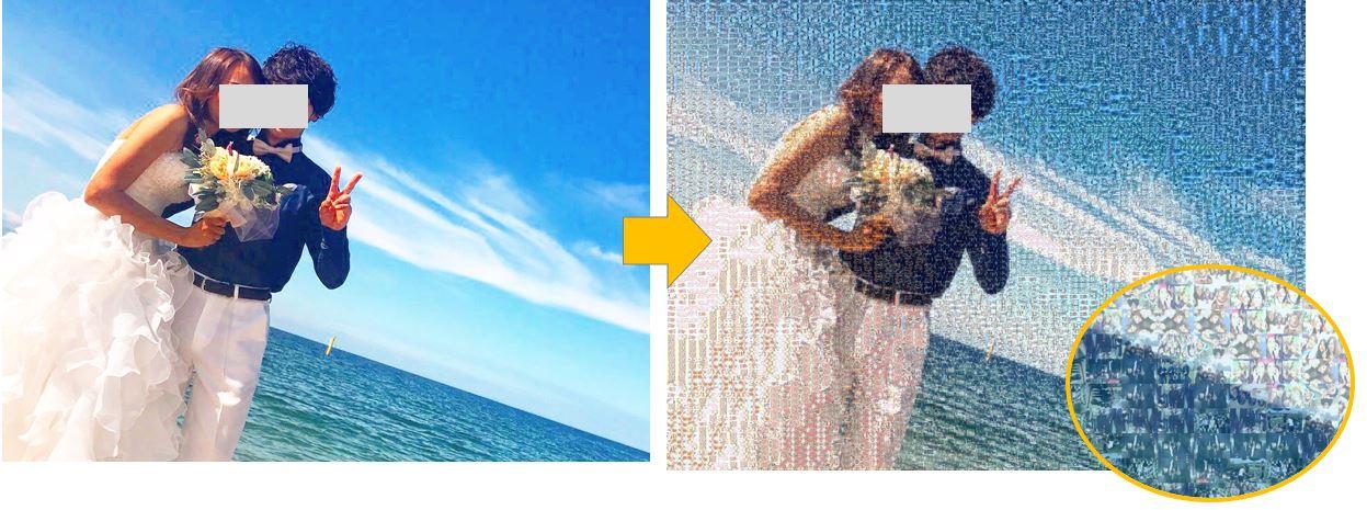 【超簡単】0円でフォトモザイクアートを作る方法|フリーソフトで手作り!結婚式でも使えるモザイクアートの作り方